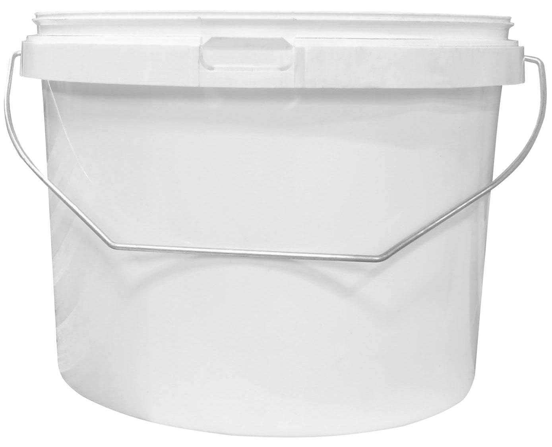 5 Litre White Plastic Tub