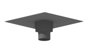 Pipe collar rainwater outlet