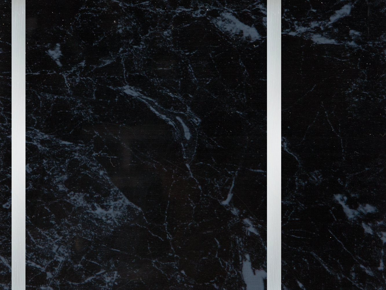 Neptune 250mm black marble with chrome strip 7.5mm pvc