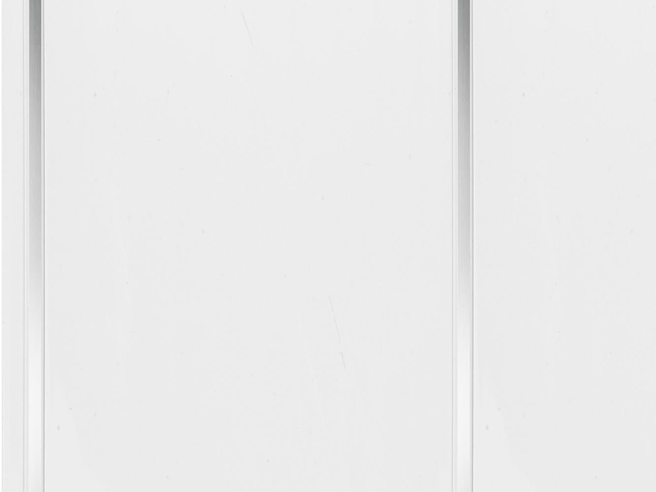 Neptune 200mm moderna white with silver strip 10mm pvc
